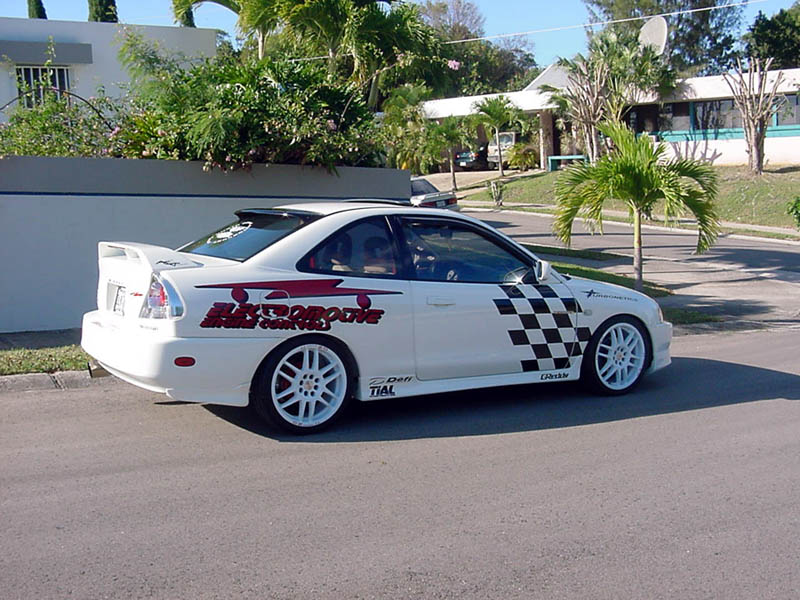 this is his 1999 mitsubishi mirage ls 18 sohc 4g93 he has turbo charged the 18 it is named the north project
